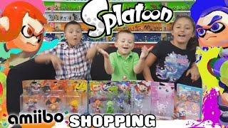 AMIIBO Shopping for SPLATOON!  Silver Mario Score, Wario, Jiggly Puff & More (+ UNBOXING Pac Man)