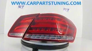 Світлодіодні задні ліхтарі Мерседес-Бенц Е-клас W212 (2009-2013) рестайлінг виглядати Червоний/прозорий з Кітт