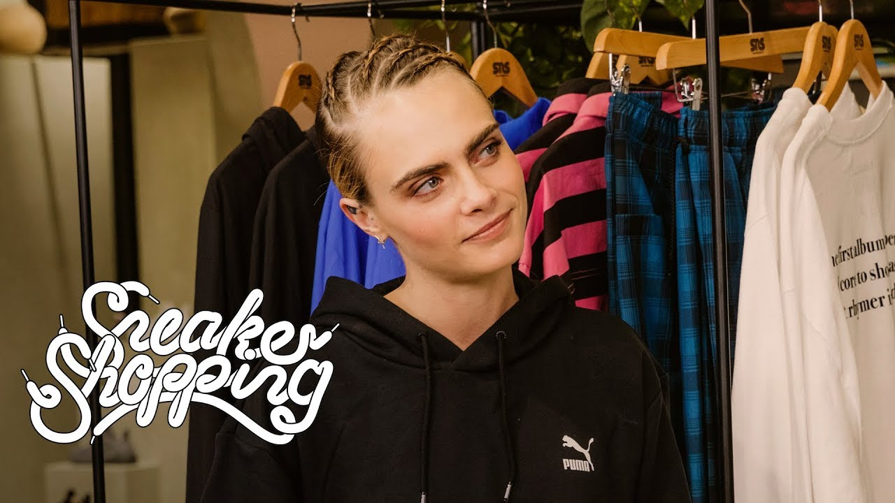 Cara Delevingne Goes Sneaker Shopping With Complex