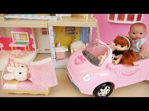 Baby doll three story house and baby Doli toys play