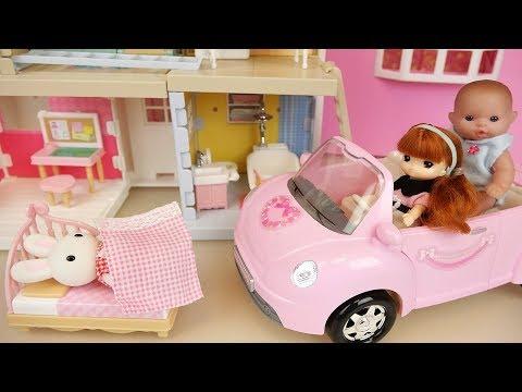 Ba doll three story house and ba Doli toys play