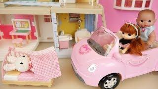 Baby doll three story house and baby Doli toys play