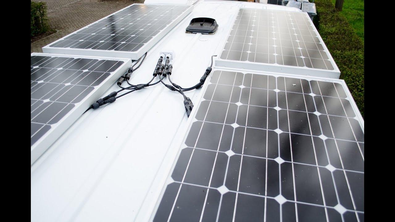 Installing the Solar Panels (400 watt) - Campervan Conversion