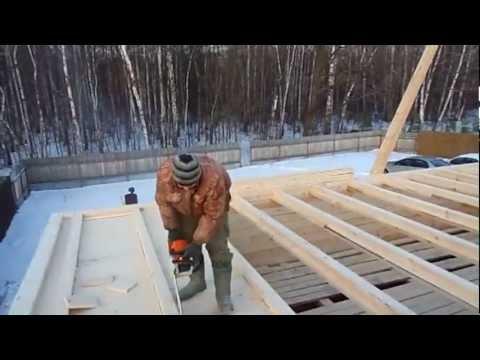 Строим дом из бруса.