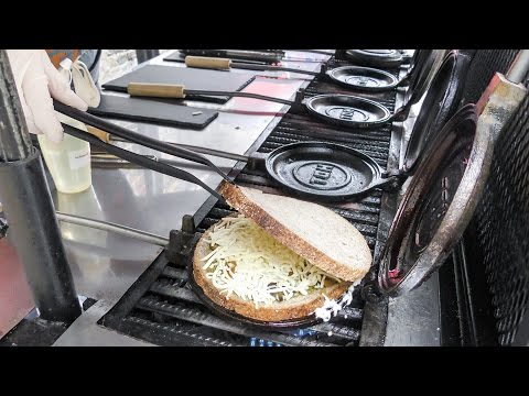 Curious Rounded Toasted Sandwich. Organic Street Food of Cam
