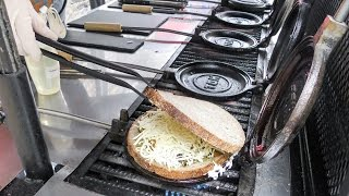 Curious Rounded Toasted Sandwich. Organic Street Food of Camden Town, London