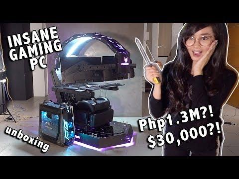 P1.3M GAMING PC RIG UNBOXING! (PREDATOR THRONOS)