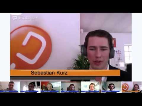 Career Hangout mit Sebastian Kurz