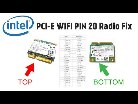 How To Fix Intel 5100 5300 Mini-PCIE WLAN WIFI Radio On Issue (Covering Pin 20)