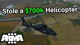 STOLE a $700k HELICOPTER! (ArmA 3 Altis Life)