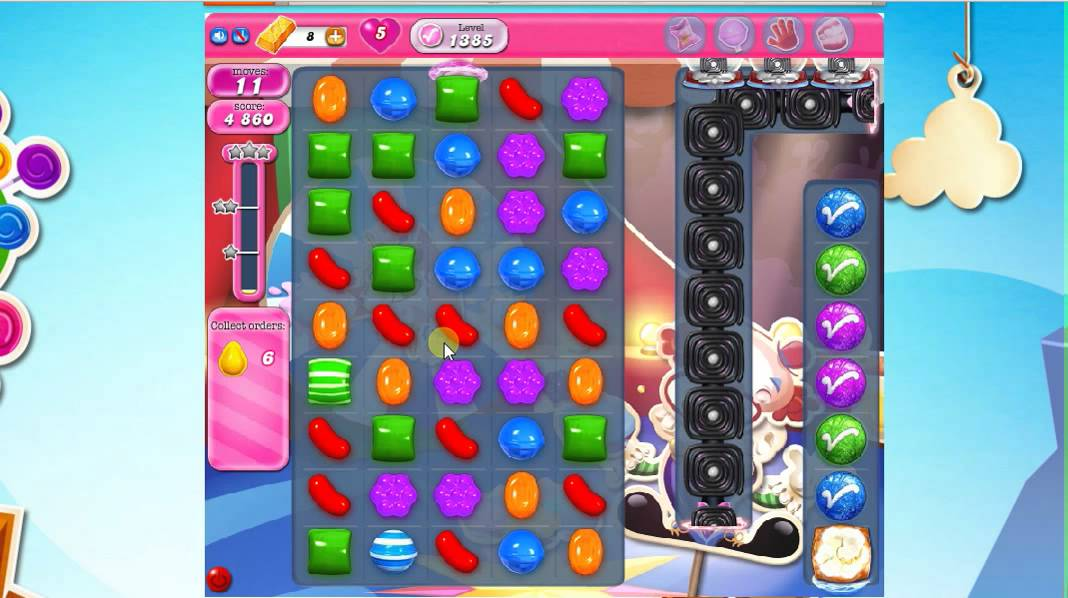 Candy Crush Level 1385 No Boosters - YouTube
