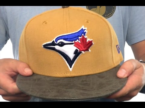 Blue Jays  RUSTIC-VIZE  Wheat-Grey Fitted Hat by New Era - YouTube 3ab14a7cdd55