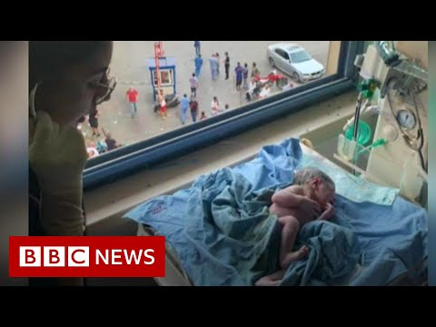 Beirut blast: The mother in labour during explosion - BBC News