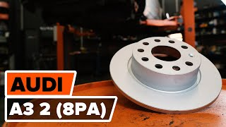 Nézzen meg egy videó útmutatók a AUDI A3 Sportback (8PA) Csapágy Tengelytest csere