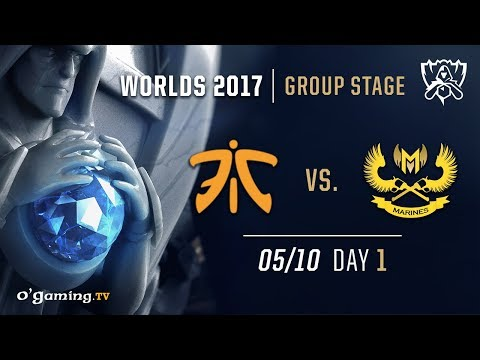 Fnatic vs GIGABYTE Marines - World Championship 2017 - Group Stage - Day 1 - League of Legends