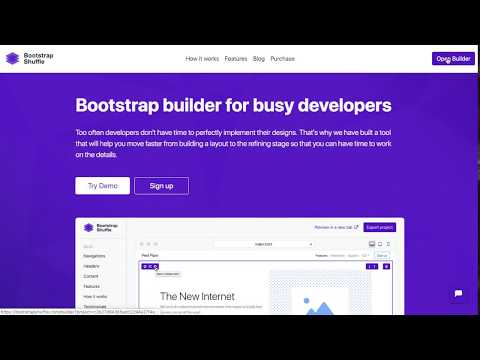 Bootstrap builder for busy developers