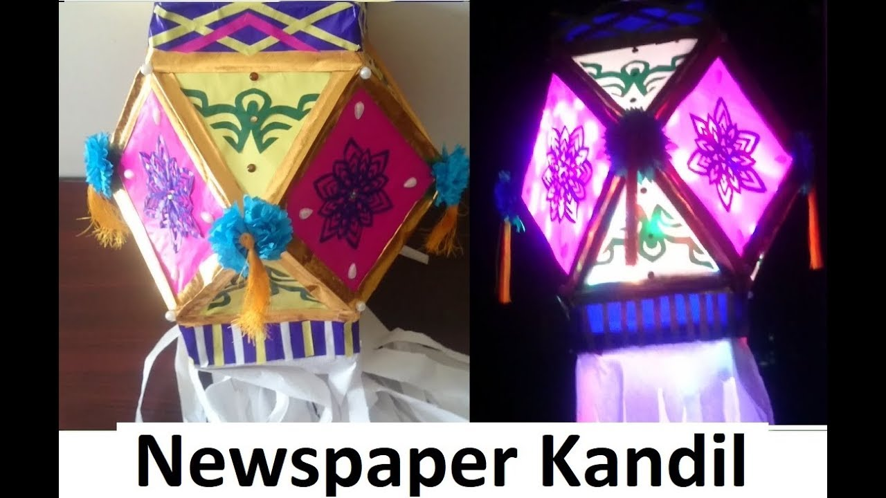 how to make kandil from waste