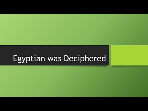 Ancient Egyptian/Medu Netcher  was Deciphered
