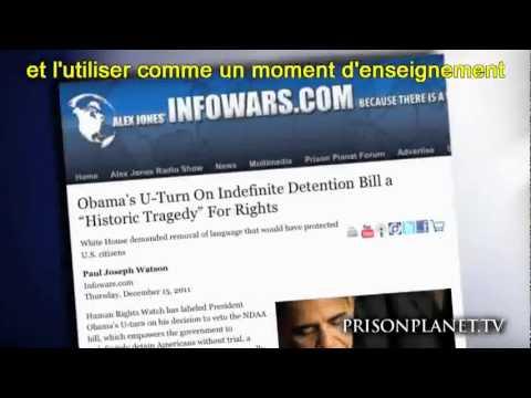 La Loi d'Enfermement pour Tous (NDAA) - Janvier 2012 - Alex Jones - VOSTFR