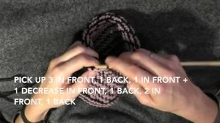 Hvordan hakke en barnelue - How to make a babyhat / Tunisian crochet