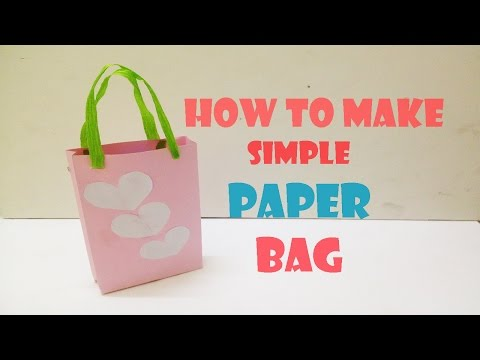 How to make simple paper bag - Paper craft tutorial