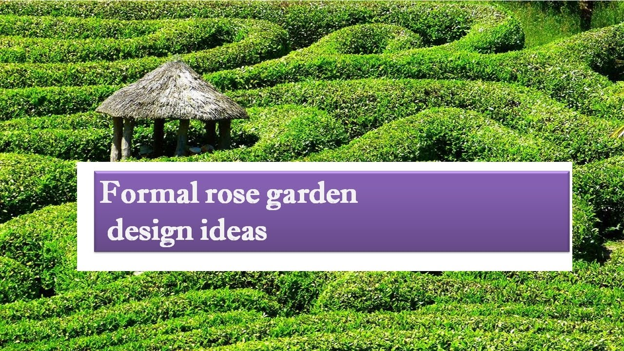Formal rose garden design ideas - and plans - YouTube