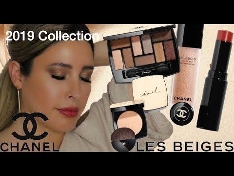 52513e1695 CHANEL LES BEIGES 2019 MAKEUP COLLECTION Eau De Teint Foundation Les  Indispensables Palette Swatches