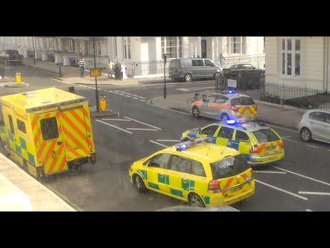 Emergency Services arriving on scene in London-Paddington