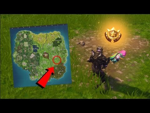 """Fortnite: """"Search between a Bear, Crater and a Refrigerator Shipment"""" Location - (Week 8 Challenges)"""