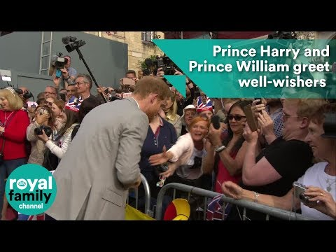 Prince Harry and Prince William greet well-wishers on streets of Windsor ahead of Royal Wedding