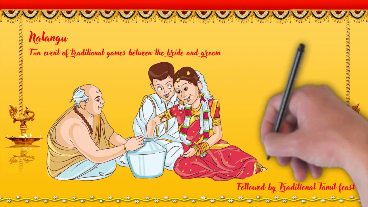 Tamil Wedding Invitation Tamil Wedding Video Invitation Mobile Invitation Whatsapp Invitation