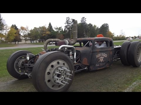 Cummins Twin Turbo Diesel Rat Rod. This wild Turbo Rat is bad-ass!