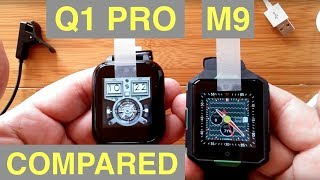 q1 PRO vs M9 Square Android 6 Smartwatches:  Which should you buy?