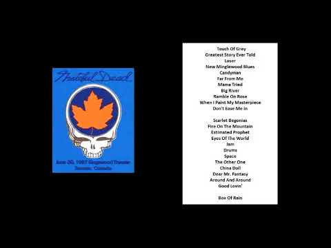 1987-06-30 - Grateful Dead Live at Kingswood Music Theater