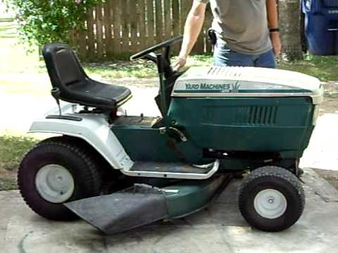 mtd yard machine riding mower manual