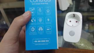 Ổ cắm Wifi Broadlink SP3 Contros điều khiển tắt mở hoặc hẹn giờ qua điện thoại
