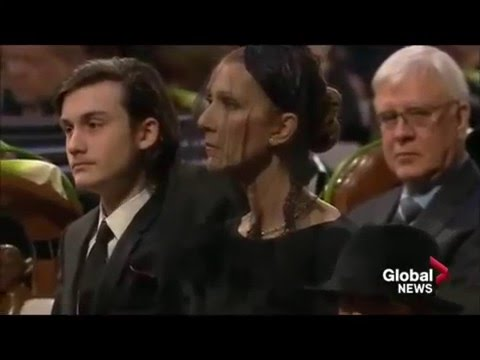 Céline Dion - All the way @ funeral René Angélil