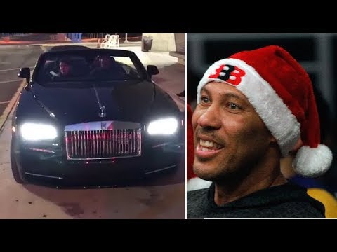 Lonzo Ball Surprises His Parents, LaVar and Tina Ball, With a $350k Rolls Royce For Christmas
