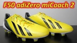 Adidas F50 adizero miCoach 2 Vivid Yellow/Black/Green Zest - Unboxing & On Feet
