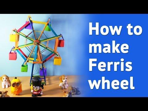 HOW TO MAKE Ferris wheel at home | Simple DIY  Ferris Wheel