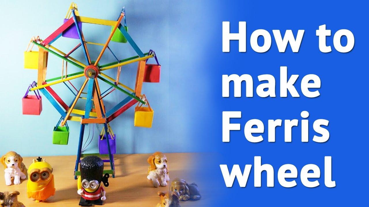 how to make ferris wheel at home simple diy ferris wheel youtube