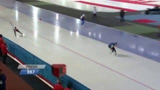 Конькобежный спорт / Чемпионат мира по спринтерскому многоборью 2016. Корея Мужчины 500 м. 1 день