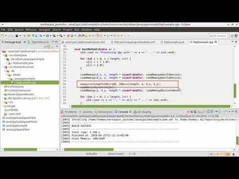 JavaCpp and Cuda with Maven #002 - YouTube