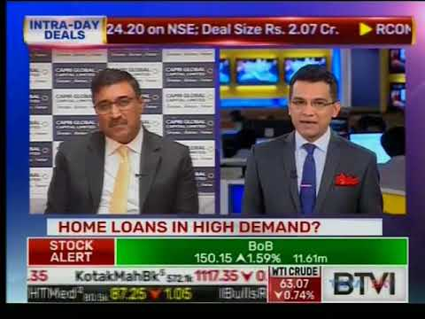 Mr Rajesh Sharma, Director, Capri Global Capital Limited  live on BTVI on the show Lunch Money