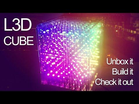 L3D CUBE, 3D RGB LED Animated light display, 8X8X8 version