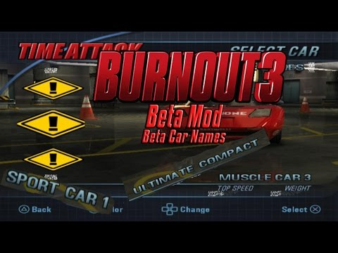 Burnout 3 Beta Mod - Beta Car Names
