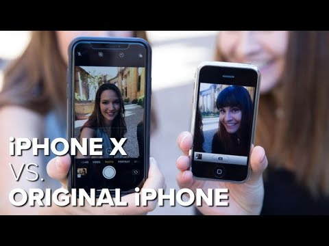 iPhone X vs. original iPhone camera test