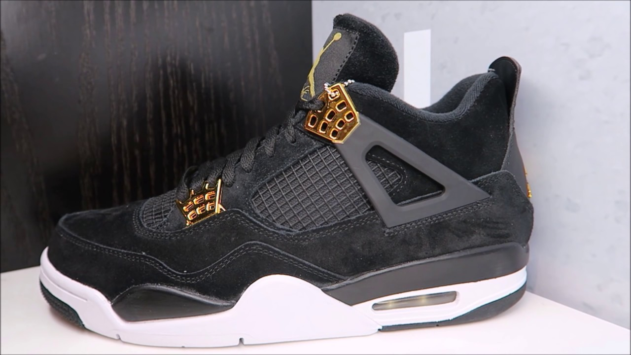 detailed look 569f7 ebdd3 AIR JORDAN 4 IV ROYALTY BLACK GOLD RETRO SNEAKER REAL HONEST REVIEW
