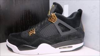 AIR JORDAN 4 IV ROYALTY BLACK/GOLD RETRO SNEAKER REAL HONEST REVIEW