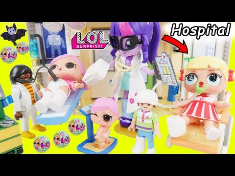 L.O.L. Surprise! Dolls Hospital House Wrong Clothes Rescue Lil Sisters Boat Ocean Shark Unboxed!